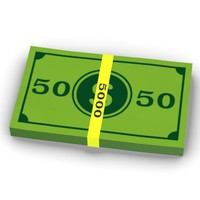 cartoon money 5000 3d 3ds