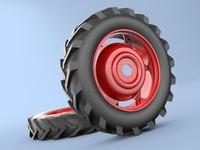 wheel tractor rear 3d max