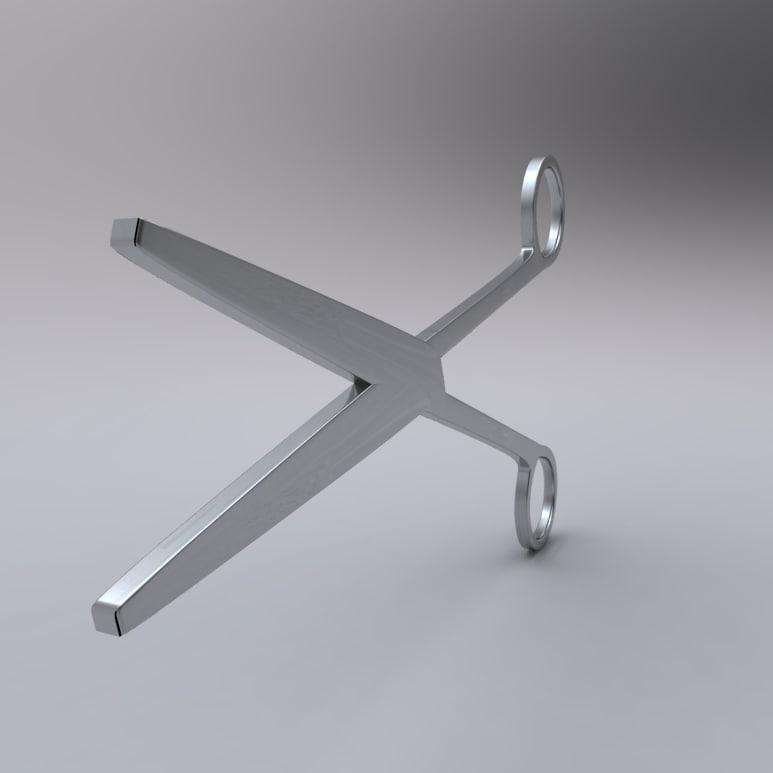 3d model medical scissor