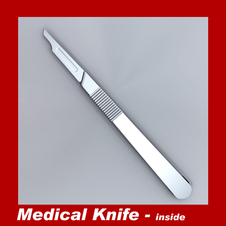 3d model medical knife