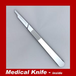 3d model medical knife