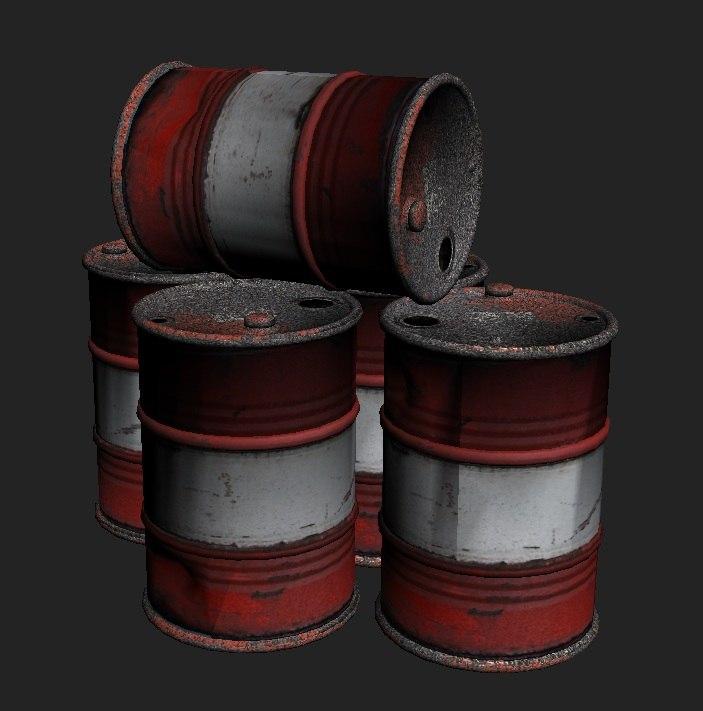3dsmax barrel