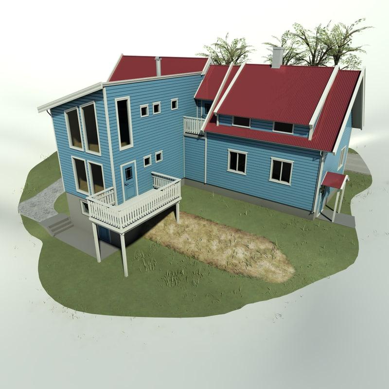 3d model house architectural exterior