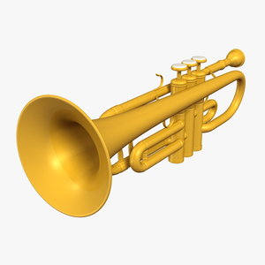 3d obj cartoon trumpet