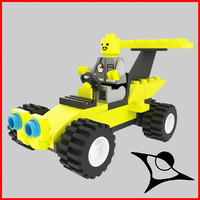 3dsmax lego race racer