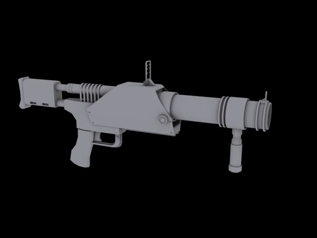 barreled grenade launcher 3d max