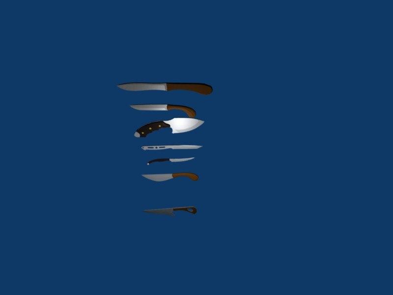 knives set 3d model