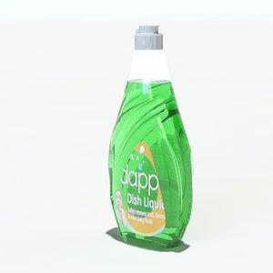 3d soap bottle
