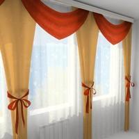 3d model curtain 1