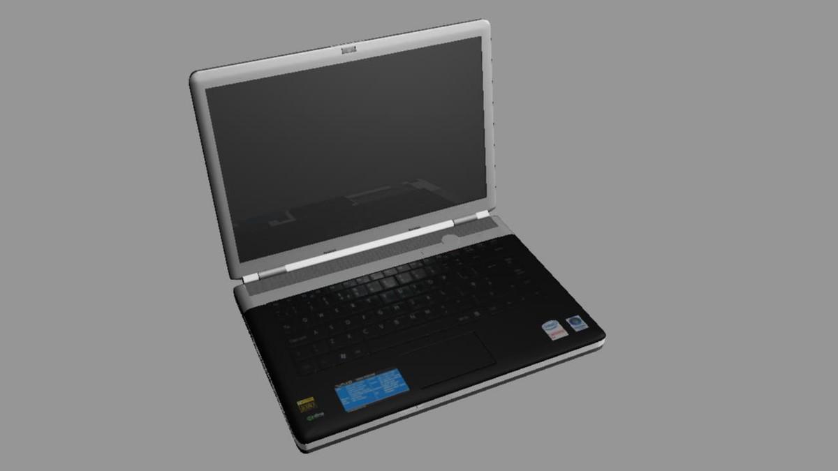 laptop components power bar 3d model