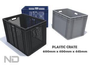 3d model plastic container -