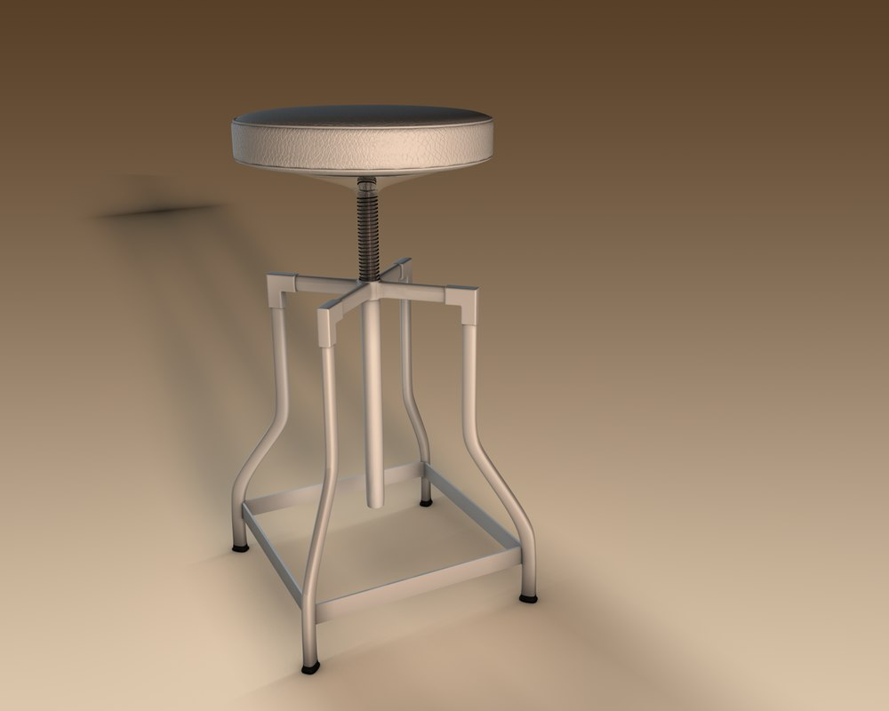 3d stool kitchen