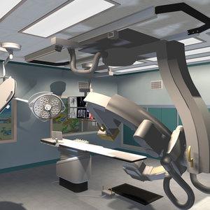 operating room equipment 3d max