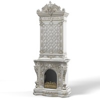 classic baroque tall 3d model