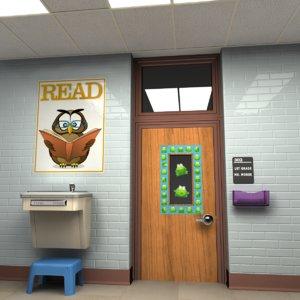 3ds classroom doorway door hallway