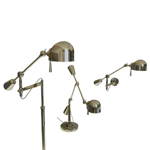 boom arm floor lamp 3d model