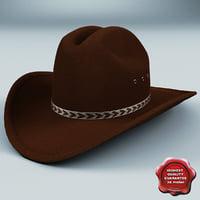 3d cowboy hat v3 model