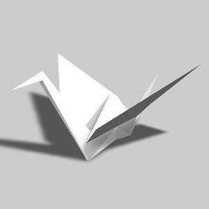 3d model paper crane