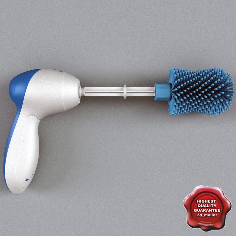 electro brush massager 3d model