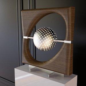 sun ra lamp 3d 3ds