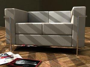le corbusier sofa 3d 3ds