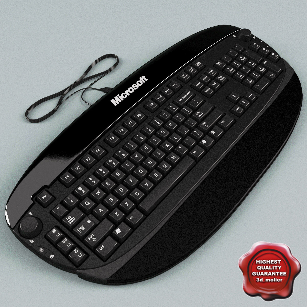 microsoft reclusa keyboard 3d model