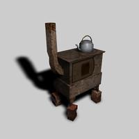 3d model oven kettle
