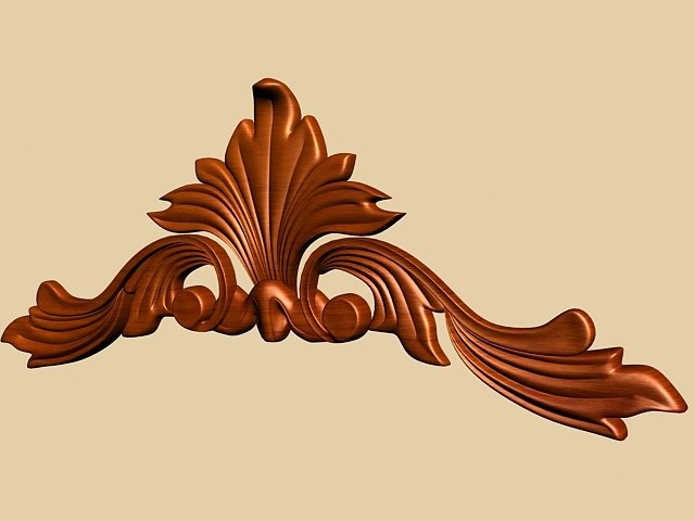 3d 3ds carved decorative molding