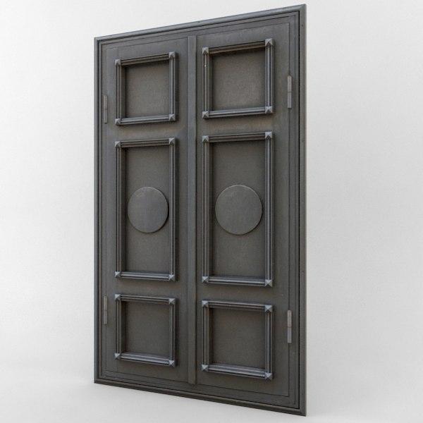 obj door dark weathered