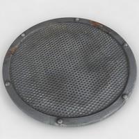 circular vent 3d model
