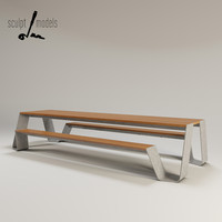 3d model hopper outdoor table