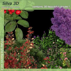 3d shrub bushes 2 model