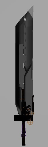 3d model of cloud strife sword