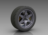 Wheel-Tire Rear 3D CAD
