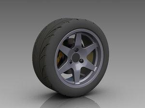 ige solidworks rear wheel-tire wheel tire
