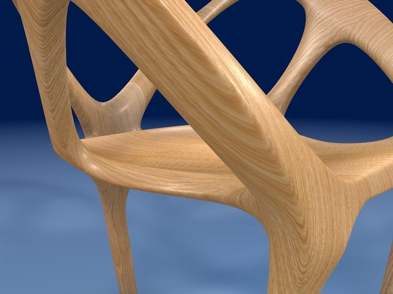 c4d organic chair