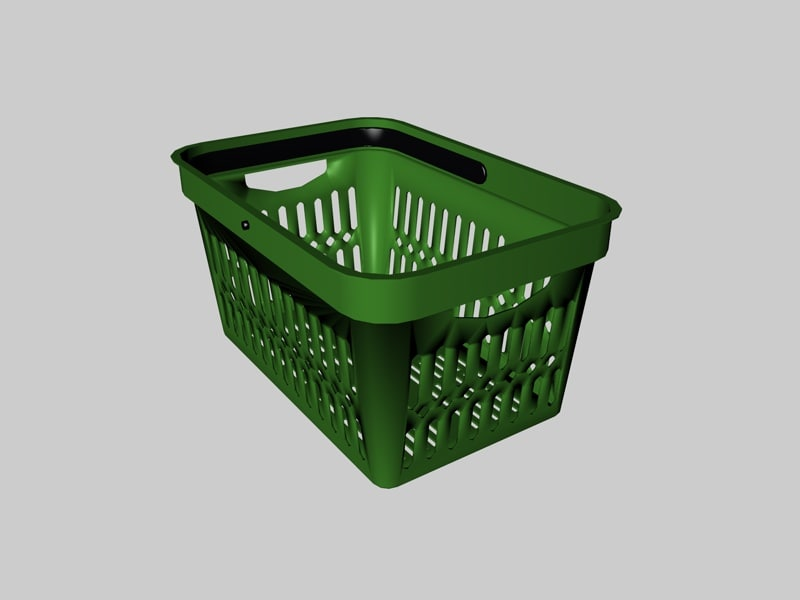 plastic shopping basket 3d c4d