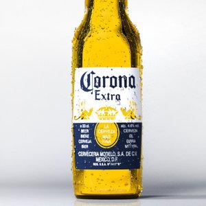 corona beer bottle 3d obj