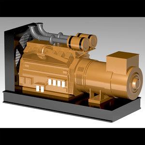 generator diesel obj