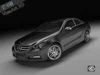 mercedes benz e coupe 3d model