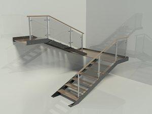 max u shape modern stairs