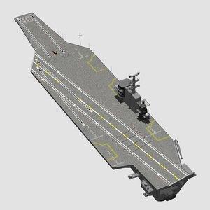 generic aircraft carrier 3d max