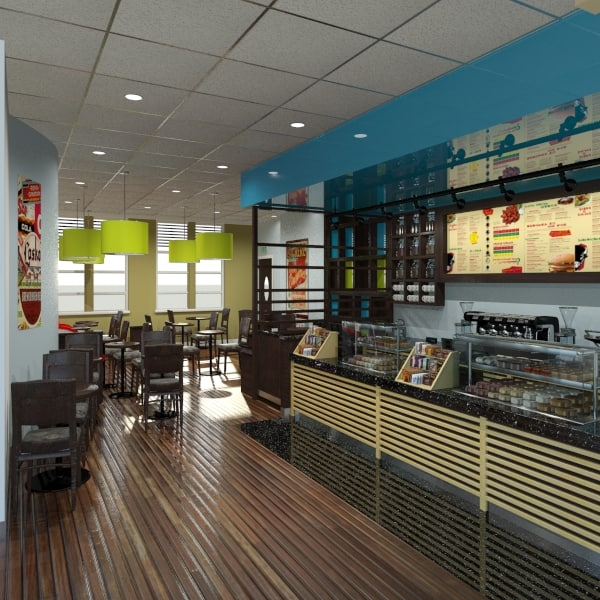 3ds max cafe bistro
