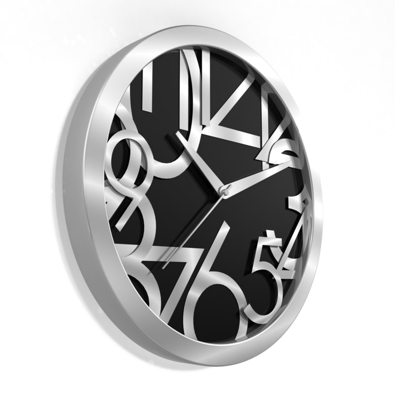3d model analog decorative wall clock