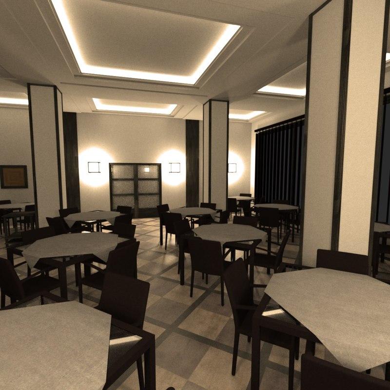 3d restaurant interior model