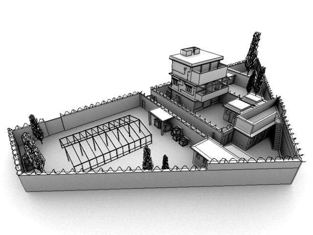 osama bin laden compound 3d model