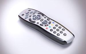 sky remote control 3d obj