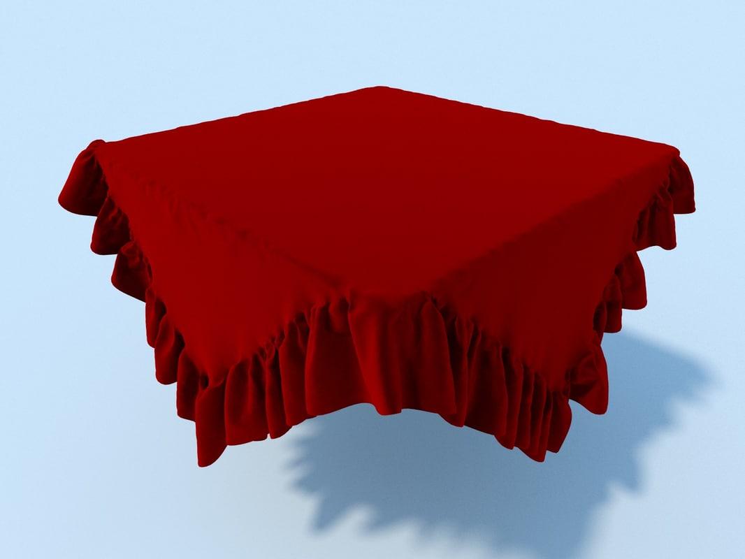table cloth tablecloth 3d max