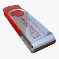 computer flash drive 3d model