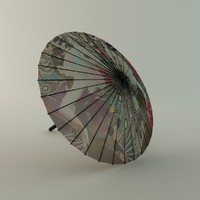 3ds max chinese umbrella
